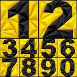 Номера полигона абстрактные иллюстрация штока