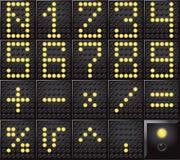 Номера приведенные дисплея точки Стоковые Фотографии RF