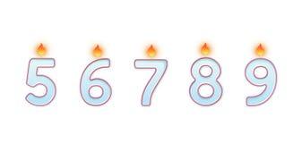 Номера свечи Горя свечи для именниных пирогов бесплатная иллюстрация