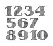Номера, связанный шрифт, серый цвет, вектор Стоковая Фотография