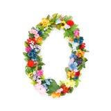 Номера сделанные из листьев & цветков Стоковая Фотография RF