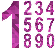 Номера треугольника Стоковые Изображения
