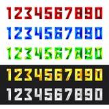 Номера установили от 0 к 9 в полигональном стиле Стоковые Фотографии RF