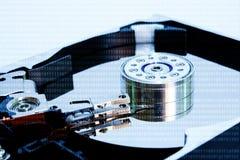 Номера цифров с раскрытой плитой трудного диска Стоковые Фото