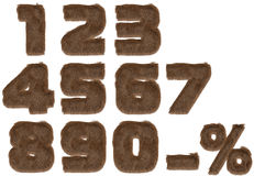 номера шерсти алфавита Стоковое фото RF