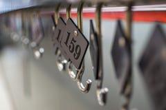 Номера шкафа Стоковое Изображение RF