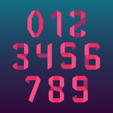 Номера шрифта Origami бесплатная иллюстрация