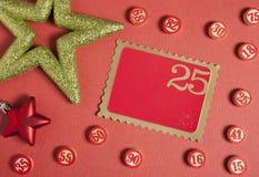 Номера Bingo в плоском стиле Стоковое фото RF