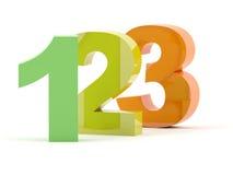 123 номера 3D Стоковые Изображения RF