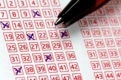 Номера Lotto удачливые Стоковые Фотографии RF