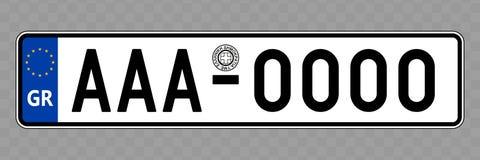 Номерной знак корабля иллюстрация вектора