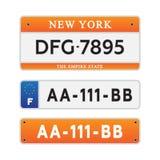 Номерные знаки автомобиля лицензии Стоковое Фото