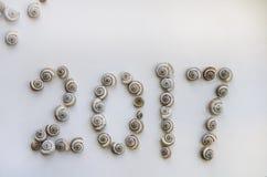 2017 номеров сделанных seashells Стоковое Изображение