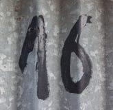 16 номеров Стоковая Фотография