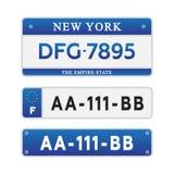 Номер автомобиля лицензии Стоковые Изображения