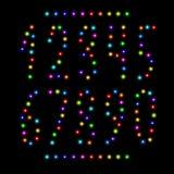 Номер вектора установленный от светов рождества Стоковые Изображения RF