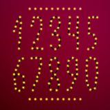 Номер вектора установленный от светов рождества Стоковое фото RF