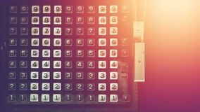 Номер винтажного калькулятора, устаревшая технология стоковые изображения rf