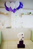 номер 1 года с днем рождения с воздушными шарами Стоковые Фото