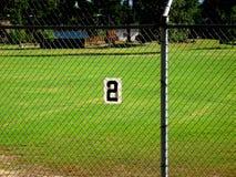 номер два поля бейсбола стоковое изображение