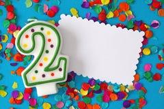 номер два свечки дня рождения Стоковая Фотография RF