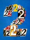 Номер два сделанное от номеров режа от кассет Стоковое Фото