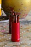 Номер деревянного esiimsi удачливый Стоковое Фото
