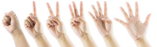 Номер жеста рукой Стоковое фото RF
