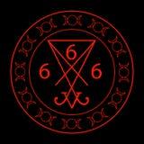 666- номер зверя иллюстрация штока
