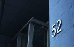 номер здания 52 Стоковые Фотографии RF