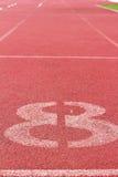 Номер используемый для спортсменов Стоковое Изображение