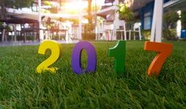 Номер концепции счастливого Нового Года 2017 Стоковое Изображение