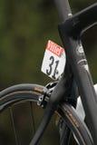 Номер на велосипеде Криса Froomes Стоковое Фото