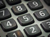 Номер на калькуляторе Стоковые Изображения