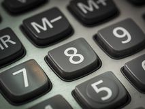 Номер на калькуляторе Стоковое Фото