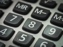 Номер на калькуляторе Стоковые Фотографии RF