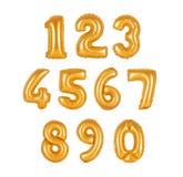 Номер от цвета апельсина воздушных шаров Стоковая Фотография RF