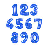 Номер от цвета воздушных шаров синего Стоковая Фотография