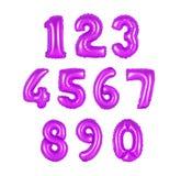 Номер от цвета пурпура воздушных шаров Стоковое Изображение RF