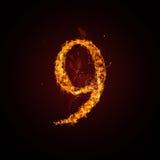 номер пожара Стоковые Изображения RF
