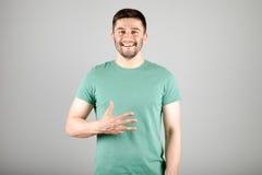 Номер показа человека пальцами Стоковое Изображение