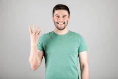 Номер показа человека пальцами Стоковые Фото