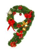 номер рождества 9 алфавитов Стоковое фото RF