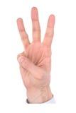 номер руки перстов Стоковые Фотографии RF