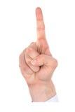 номер руки перстов Стоковая Фотография