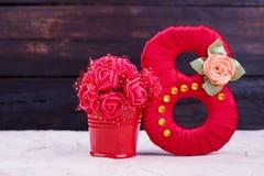 Номер сатинировки, искусственные цветки Стоковые Фотографии RF