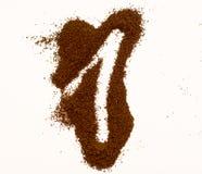 Номер сделанный из изолированного кофе на белой предпосылке стоковое изображение rf