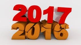 Номер трещиноватости года 2016 Стоковое Изображение