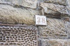 Номер улицы дела, Флоренс, Италия Стоковая Фотография