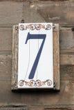 Номер улицы стоковая фотография rf